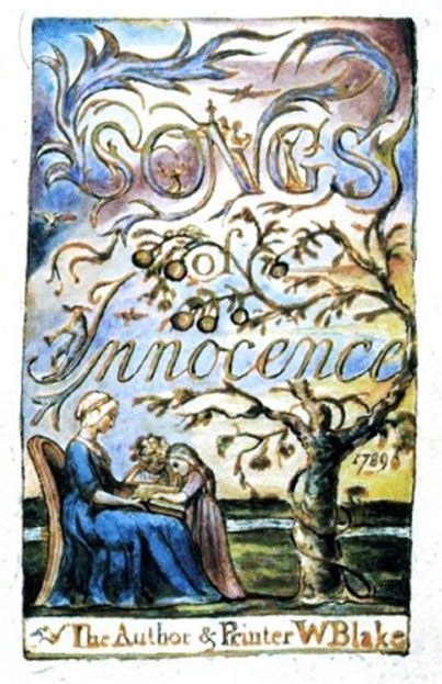 William Blake frontispiece, Songs of Innocence, 1789